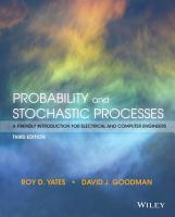 Probability and Stochastic Processes PDF