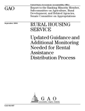 Rural Housing Service updated guidance and additional monitoring needed for rental assistance distribution process