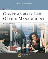 Contemporary Law Office Management PDF