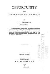 Opportunity, and Other Essays and Addresses