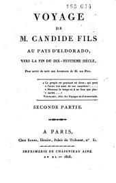 Voyage de M. Candide fils au pays d'Eldorado: Volume2