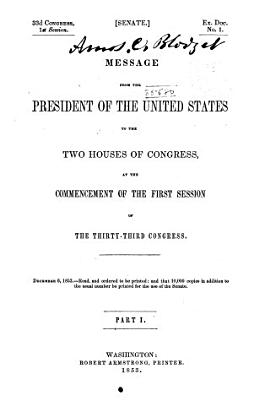 Message of the President of the United States Communicated to the Two Houses of Congress      PDF