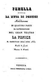 Fenella ossia La muta di Portici: Melodramma in 4 parti
