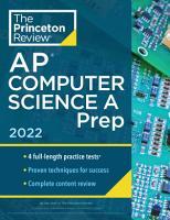 Princeton Review AP Computer Science A Prep  2022 PDF