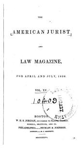 The American Jurist and Law Magazine: Volume 15