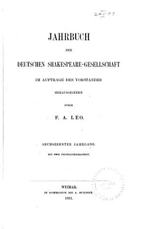 Shakespeare Jahrbuch PDF