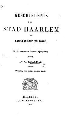 Chronologisch overzigt van de belangrijkste gebeurtenissen der stad Haarlem PDF