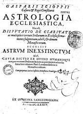 Astrologia ecclesiastica