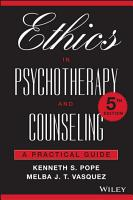 Ethics in Psychotherapy and Counseling PDF