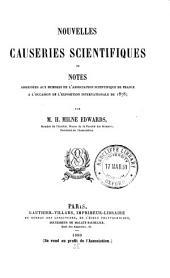 Nouvelles causeries scientifiques: ou, Notes adressées à l'occasion de l'Exposition internationale de 1878