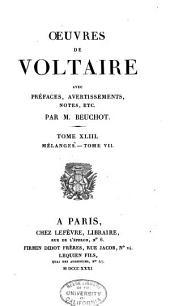 Oeuvres de Voltaire: Volume43