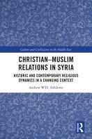 Christian   Muslim Relations in Syria PDF