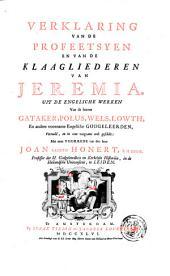 Verklaring van de geheele Heilige Schrift, door eenigen van de voornaamste Engelsche godgeleerden: Volume 3