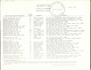 List of U.S. Air Carriers