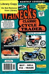 WALNECK'S CLASSIC CYCLE TRADER, NOVEMBER 1998