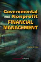Governmental and Nonprofit Financial Management PDF