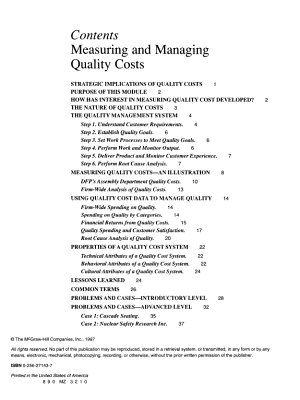 Measuring and Managing Quality Costs PDF