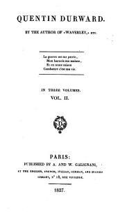 Quentin Durward: In Three Volumes, Volume 2