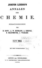 Justus Liebigs Annalen der Chemie: Bände 265-266