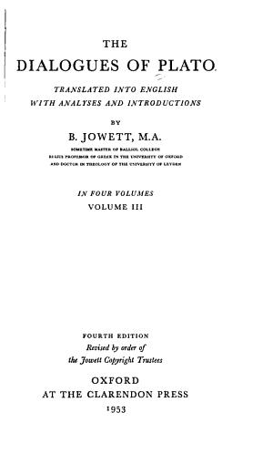 Cratylus. Phaedrus. Theaetetus. Sophist. Statesman. Philebus. Timaeus. Critias