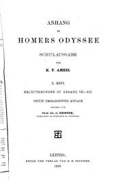 Anhang zu Homers Odyssee, schulausgabe: hft. Erläuterungen zu gesang VII-XII. 3. umgearb. aufl. 1889