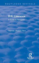 D.H. Lawrence: A Guide to Research