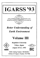 1993 International Geoscience and Remote Sensing Symposium  IGARSS  93   Better Understanding of Earth Environment  PDF
