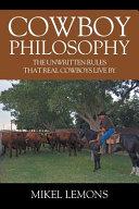 Cowboy Philosophy PDF