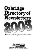Oxbridge Directory of Newsletters Book