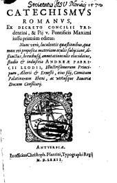 Catechismus romanus ex Decreto Concilii Tridentini Parochos