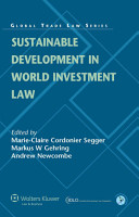 Sustainable Development in World Investment Law PDF
