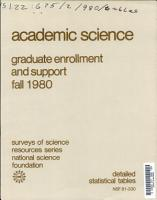 Academic Science  Graduate Enrollment and Support PDF