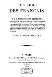 Histoire des Français: Volume25