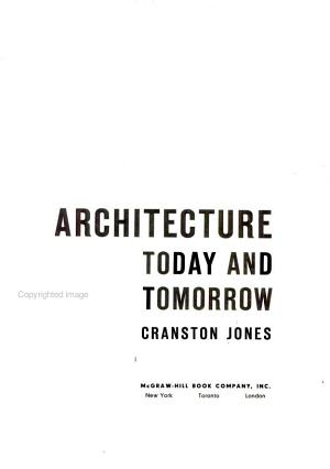Architecture Today and Tomorrow PDF