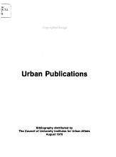Urban Publications PDF