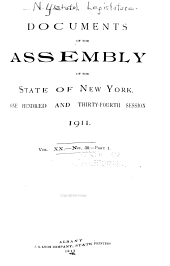 Documents of the Assembly of the State of New York: Volume 20