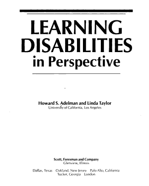 Learning Disabilities in Perspective