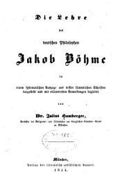 Die Lehre des deutschen Philosophen Jakob Böhme