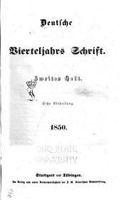 Deutsche vierteljahrs Schrift: Ausgabe 50