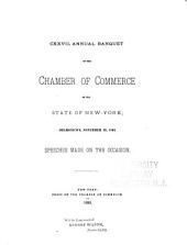 Annual Banquet of the Chamber of Commerce of the State of New York: Volume 127