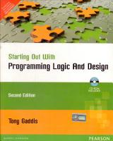 Starting Out with Programming Logic and Design  2 e PDF