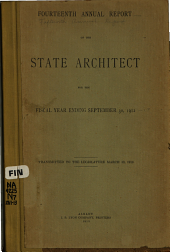 Annual Report of the Department of Architecture of Th State of New York: 1911-1913