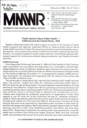 Morbidity and Mortality Weekly Report: MMWR, Volume 47, Issue 4