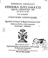 Censura diplomatis, quod Ludovico Imperatori fert acceptum Coenobium Lindaviense