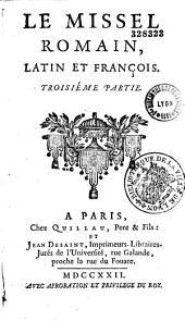 Le missel romain, latin et françois