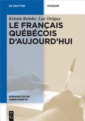 Le français québécois d'aujourd'hui