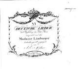 vi. Deutsche Lieder mit Begleitung des Forte Piano, etc