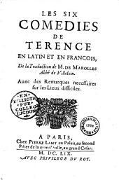 P. Terentii Carthaginiensis Afri Comoediae sex... Cum interpretatione Gallica