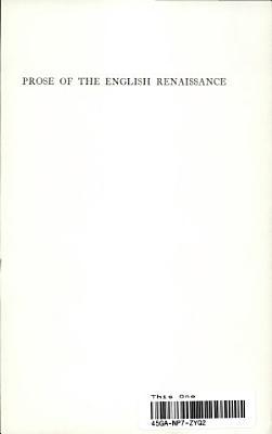 Prose of the English Renaissance