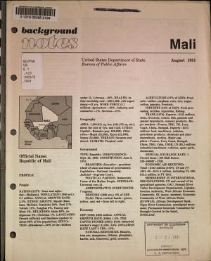 Background notes  Mali PDF